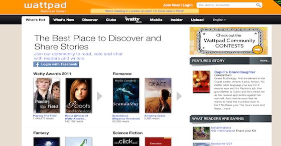 Sociální síť pro čtenáře a autory Wattpad získává další
