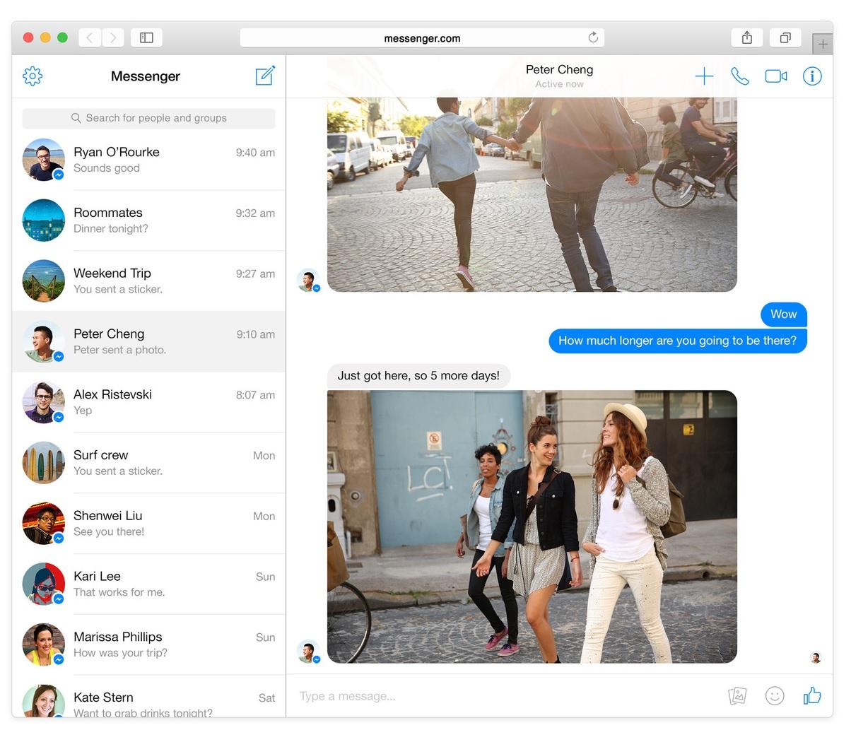 online chatování aplikace
