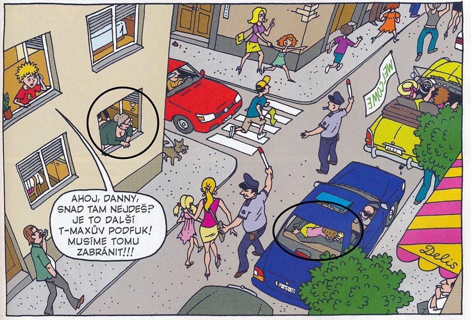 sledujte sexuální karikatury