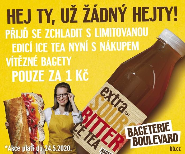 """bageterie propagovala exkluzivní edici hořkokyselého čaje Extra Sour&Bitter speciálně pro své (""""zahořklé a kyselé"""") zákazníky"""