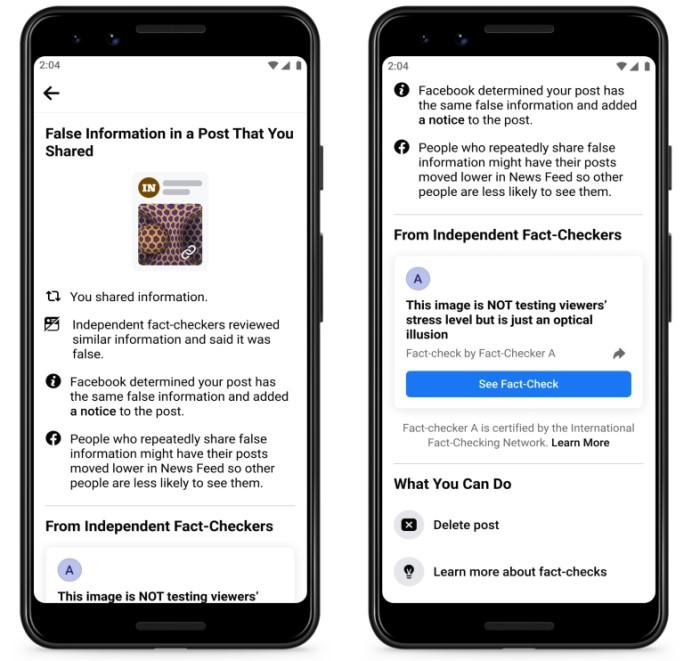 Facebook hlídá dezinformace